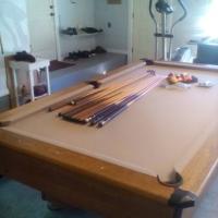 Pool Table Dart Board and Foosball Table