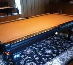 Golden West Pool Table & RAM Tiffany Light