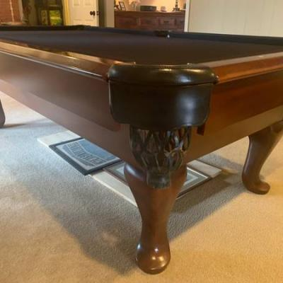 Black felt pool table in great condition