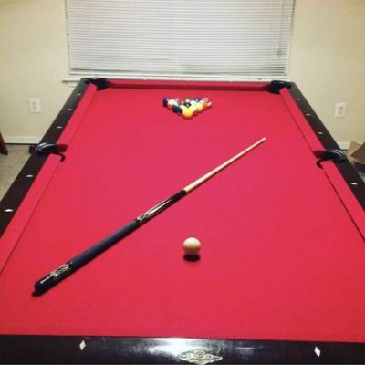 Red felt 8' ft Pool Table