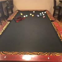 Nice Conelly ¨Tiger Print¨ Pool Table For Sale