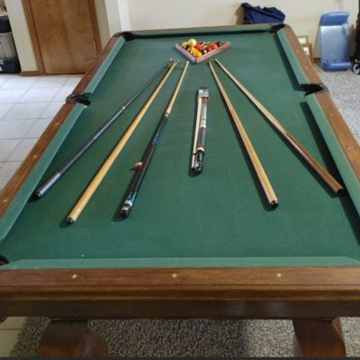 Pool Table Full Size One piece slate